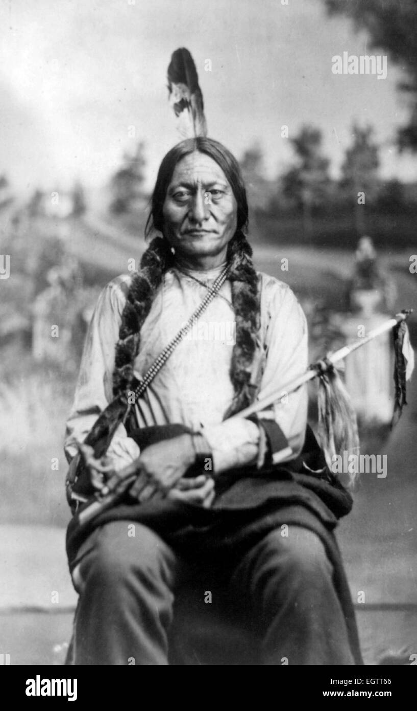 Sitting Bull, Indian Chief - Stock Image