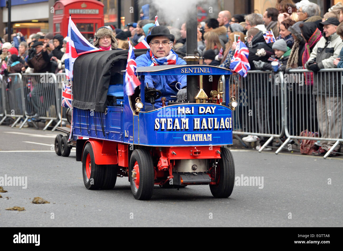 London, 1st January. New Year's day Parade from Piccadilly to Parliament Square. H&I Steam Haulage, Chatham - Stock Image