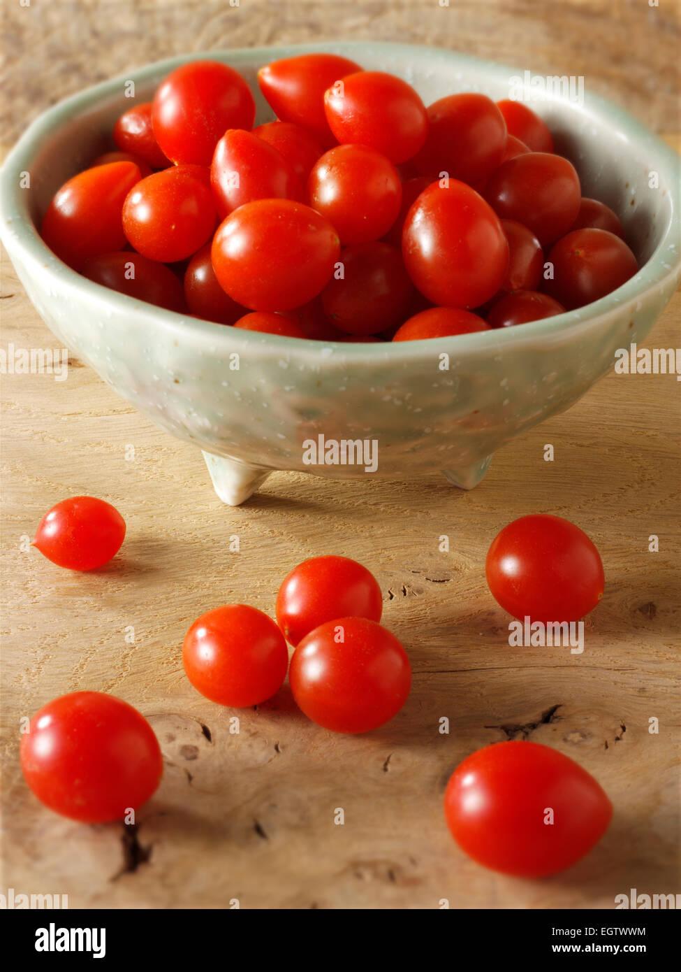 Fresh Tom Tom tomatoes - Stock Image