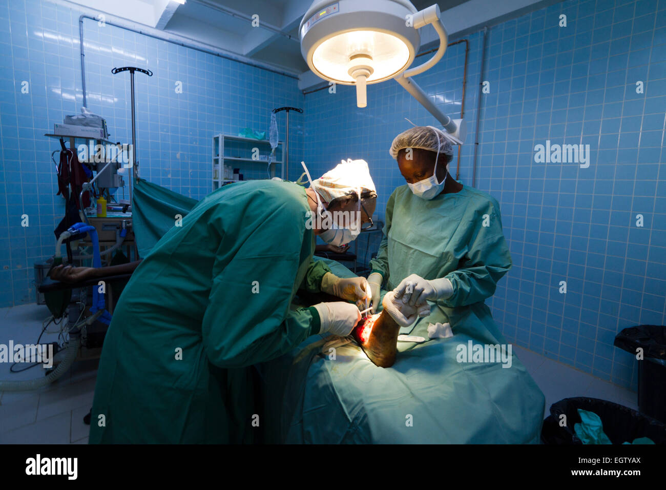 Surgical emergency project at the General Hospital MSF of Bangui ,Central African Republic ,Africa - Stock Image