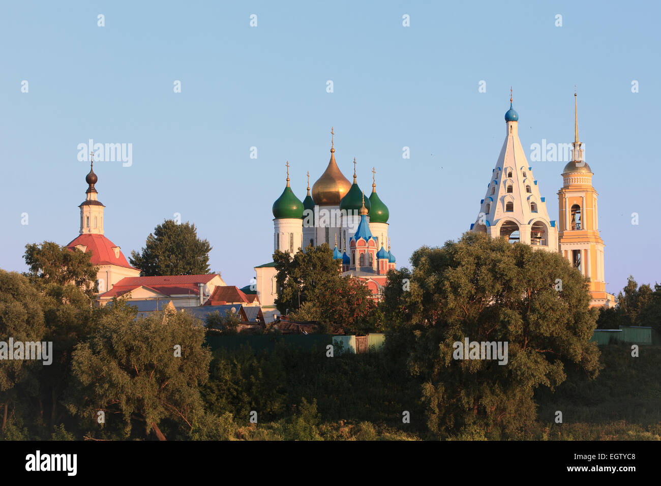 The Kremlin of Kolomna, Russia on an early summer morning Stock Photo