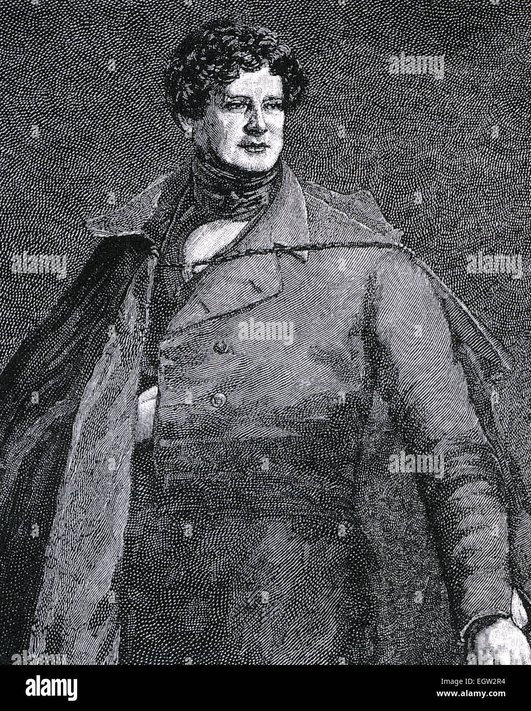 DANIEL O'CONNELL (1775-1847) Irish political leader known as The Emancipator - Stock Image