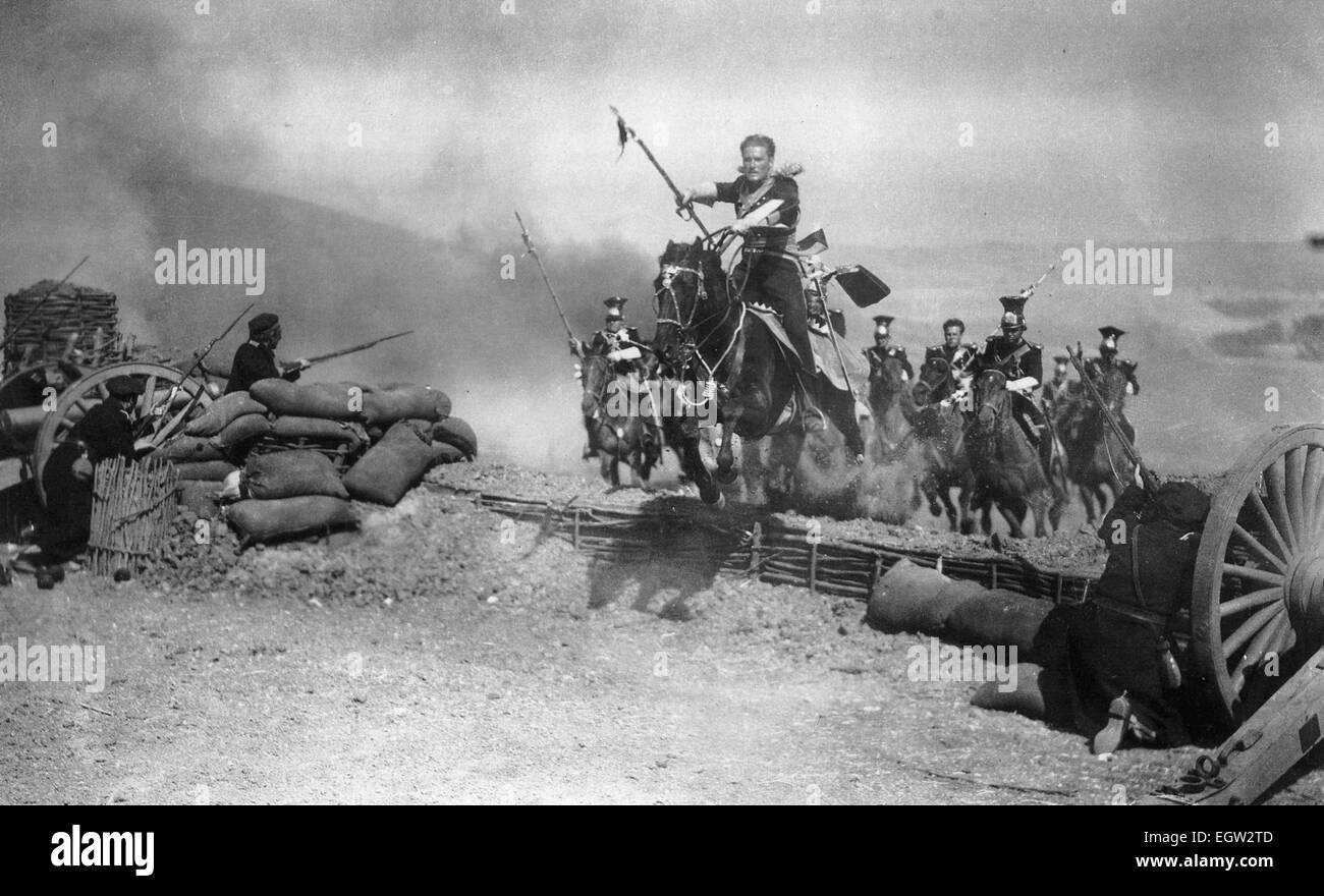 THE CHARGE OF THE LIGHT BRIGADE  1936 Warner Bros film with Errol Flyyn - Stock Image
