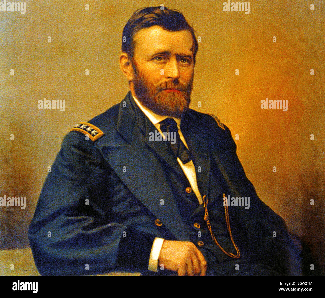 ULYSSES S. GRANT (1822-1885) As Commander of Union Forces in the American Civil War - Stock Image