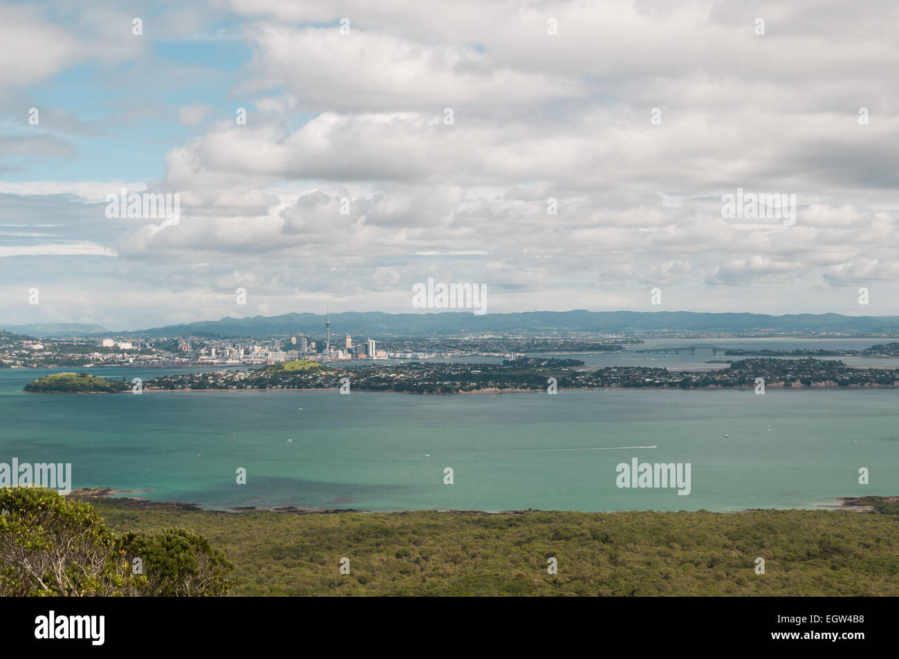 Auckland and Devonport, North Island, New Zealand. - Stock Image