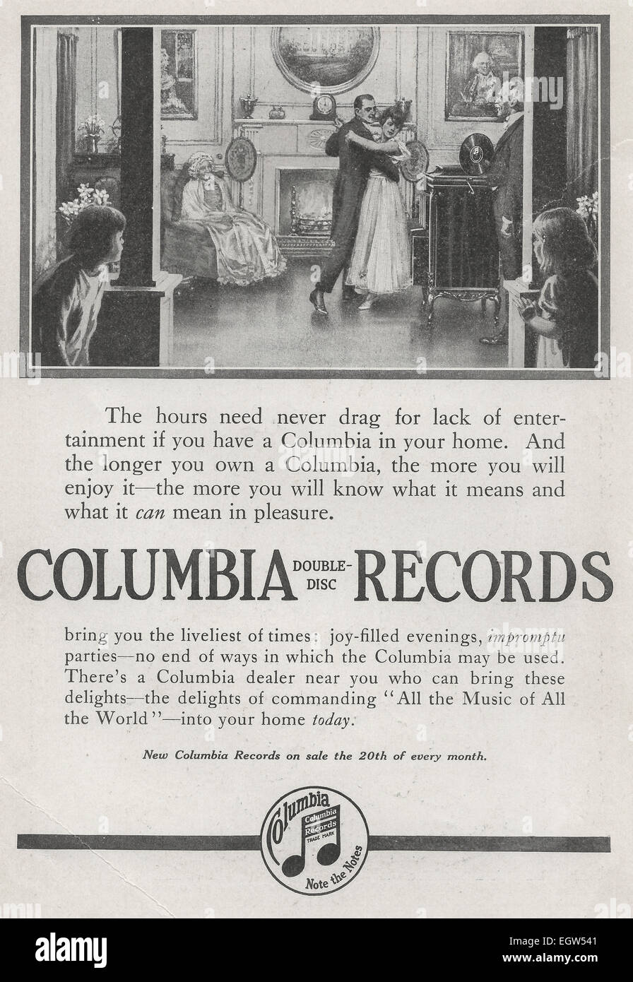 Vintage 1940s Colombia Records Composer Ad