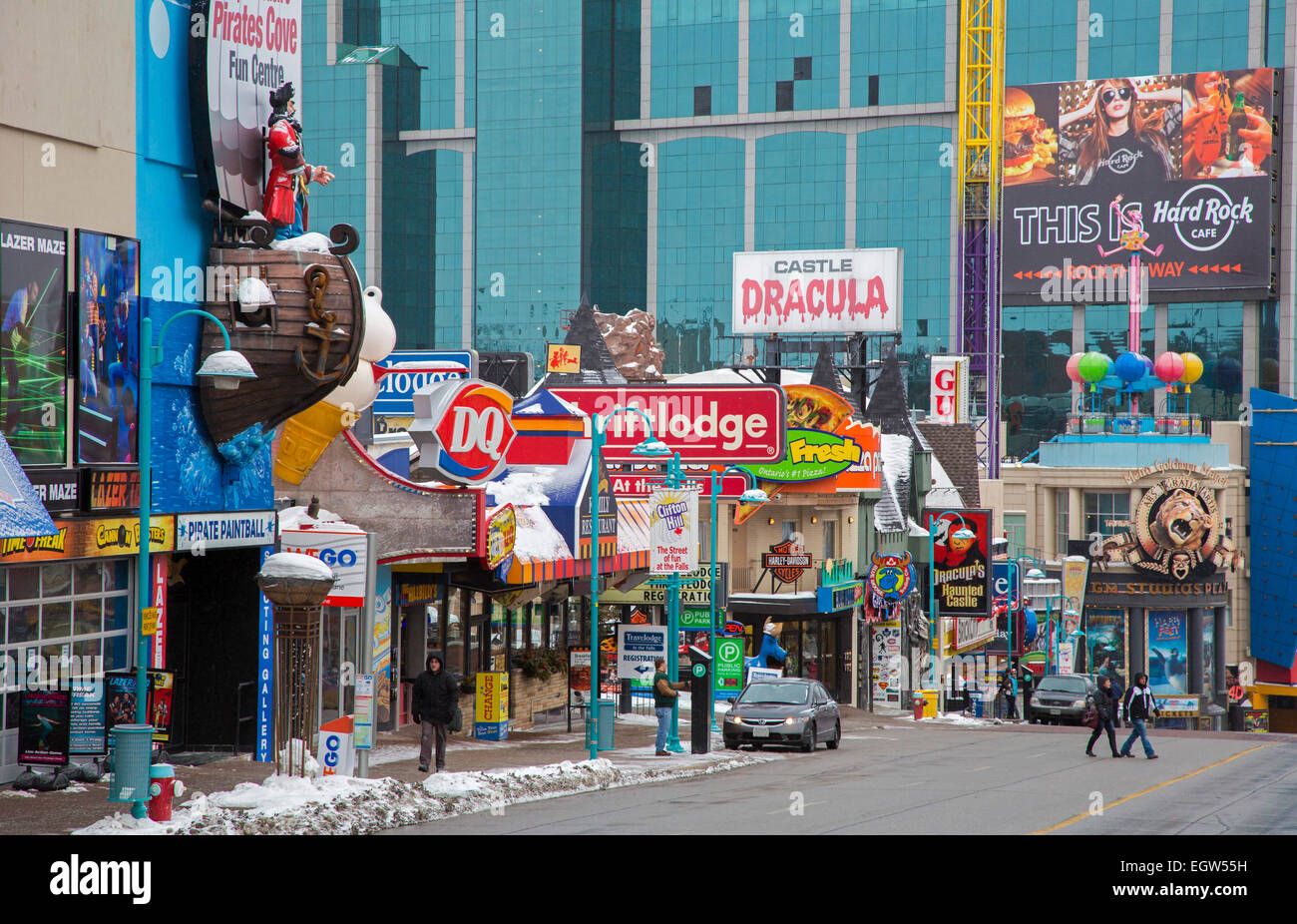 Niagara Falls Shopping There are some amazing specialty shops nestled among Niagara's top attractions on Clifton Hill. Whether you're looking for unique gifts and Native Art at the Canada Trading Company, or shopping for toys at the Fun Factory or candy at the Fudge Factory.