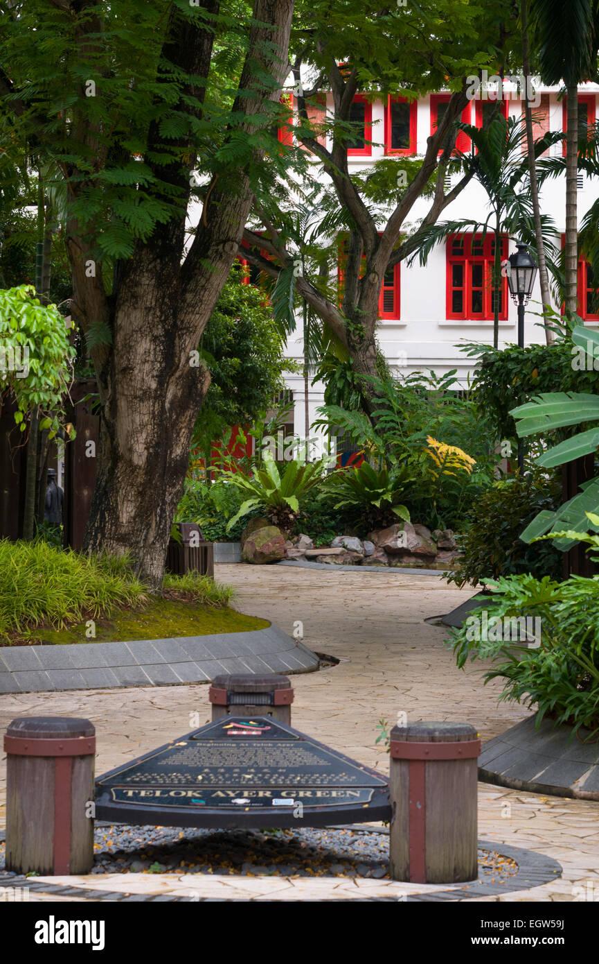 Telok Ayer Green, Telok Ayer Street, Singapore. - Stock Image