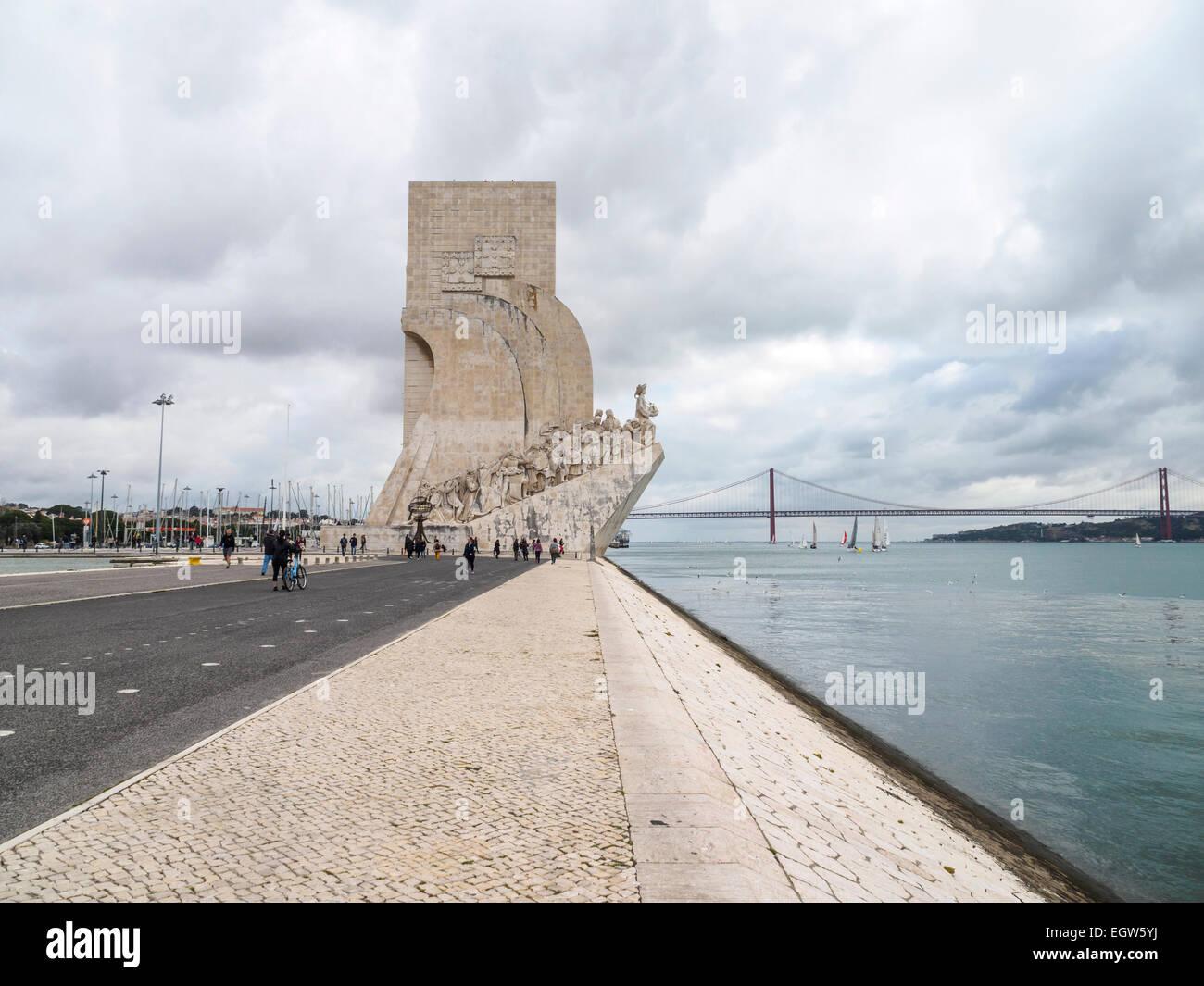 The Padrão dos Descobrimentos in Belém, Lisbon, Portugal - Stock Image