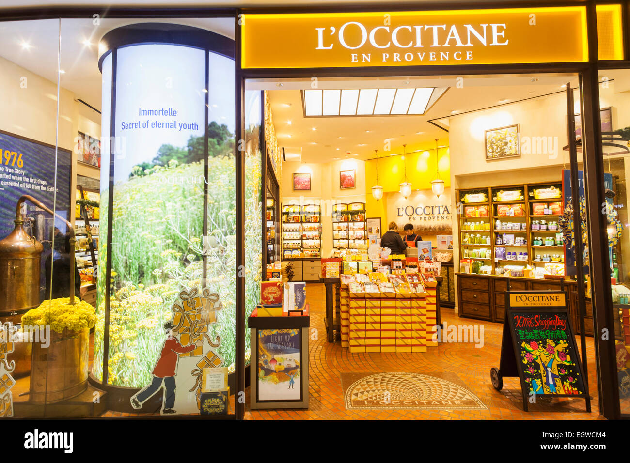 china hong kong central ifc mall l 39 occitane en provence store stock photo 79234740 alamy. Black Bedroom Furniture Sets. Home Design Ideas