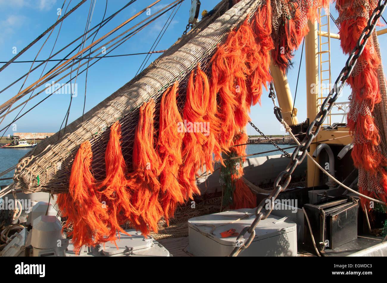 Texel Netherlands Oudeschild port Fishing boat wad Wadden Sea ( Waddenzee ) - Stock Image