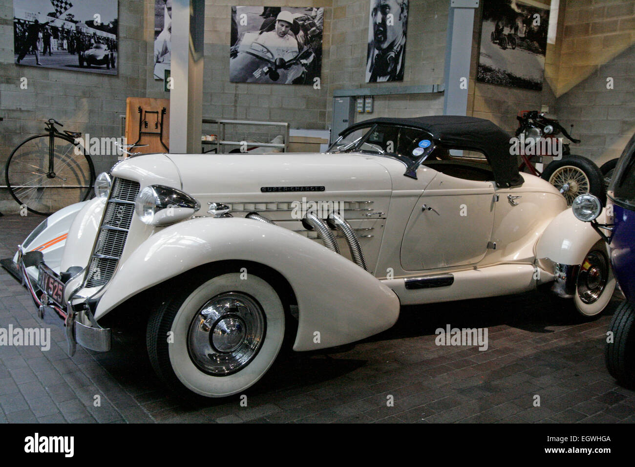 A 1935 Auburn 851 at the National Motor Museum, Beaulieu, England - Stock Image