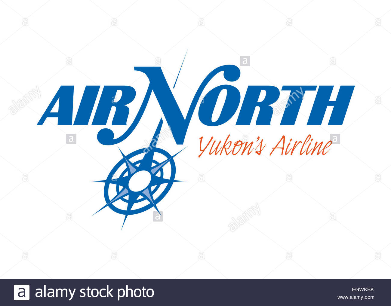 Air North - Yukon's Airline logo symbol flag emblem - Stock Image