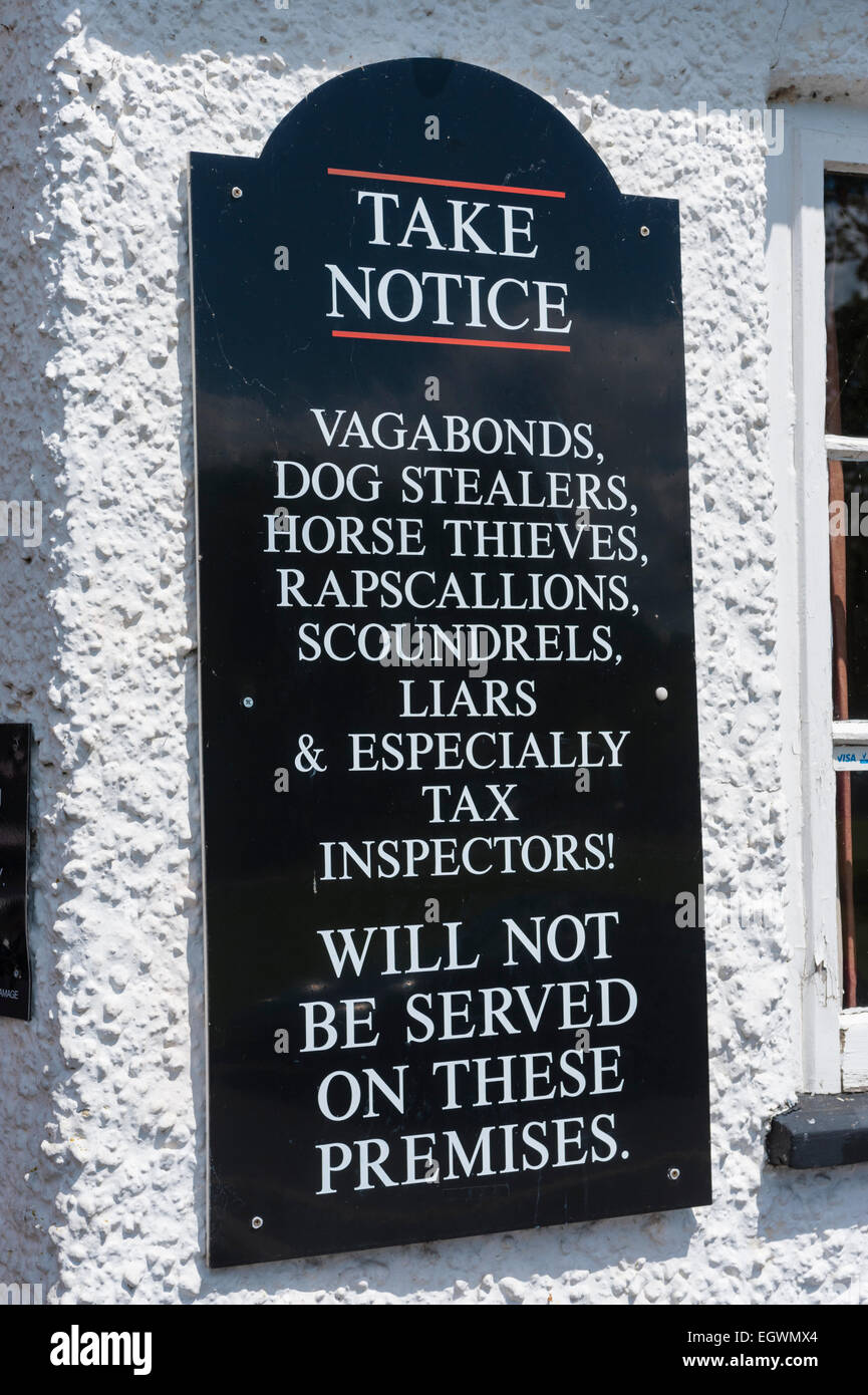 Sign outside of the Barley Mow Pub Tilford Surrey - Stock Image