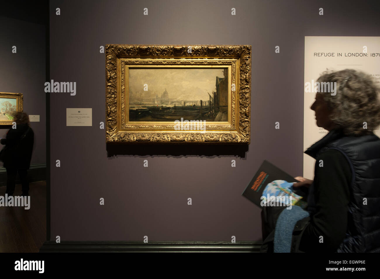 National Gallery, London, UK. 3rd March, 2015. Inventing Impressionism. An exhibition devoted to Paul Durand-Ruel, Stock Photo
