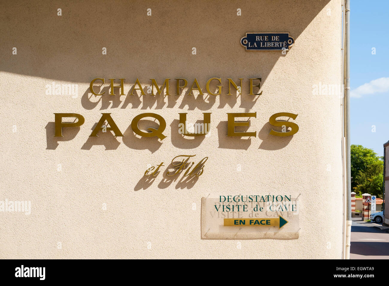 Champagne House Paques - a wine grower in Rilly la Montagne, Champagne, France, Europe - Stock Image