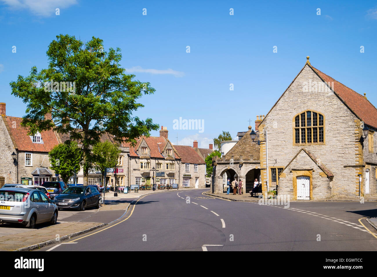 Somerton, a beautiful old small market town in Somerset, England, UK - Stock Image