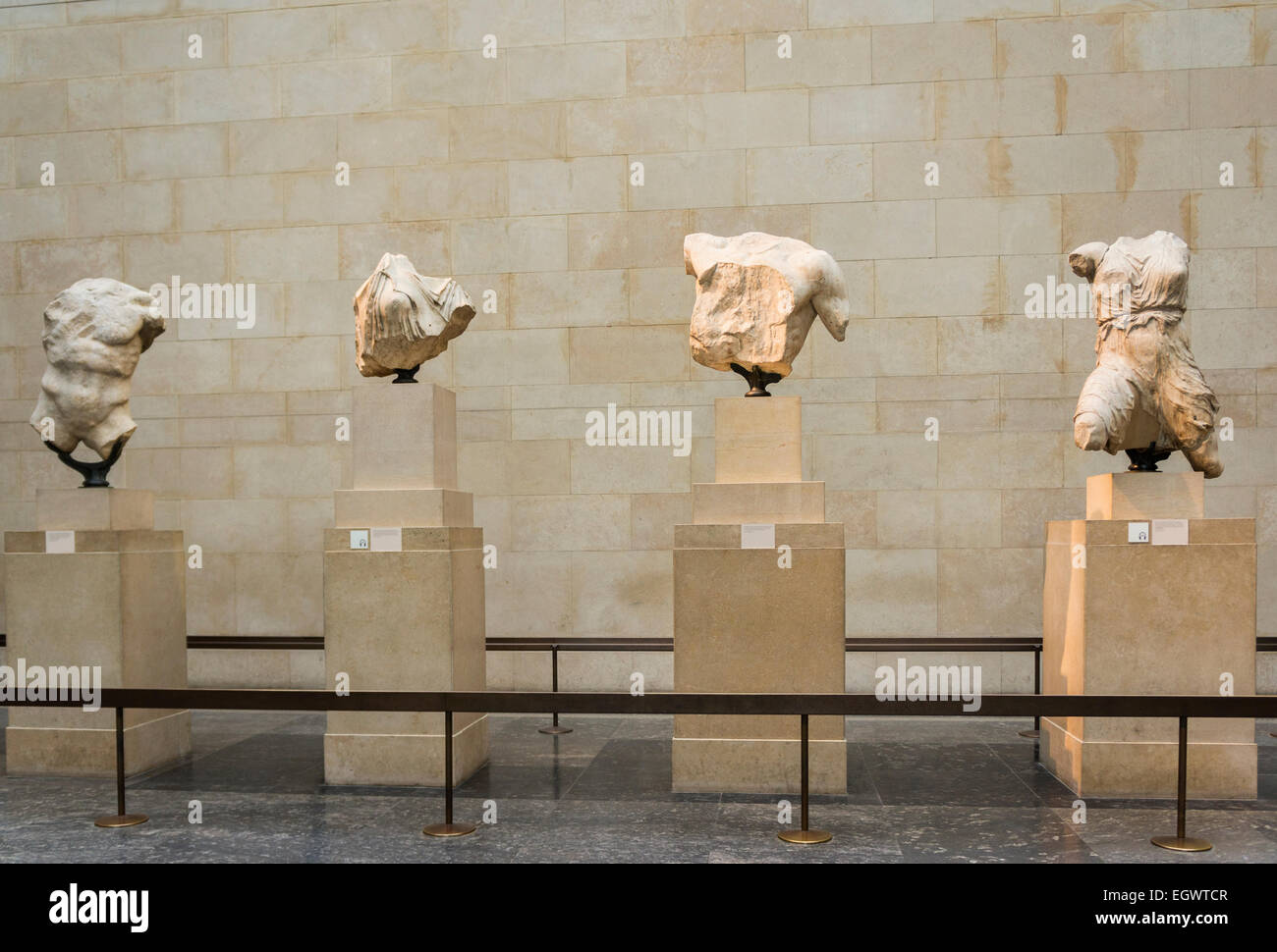 The Elgin Marbles in the British Museum, London, England, UK Stock Photo