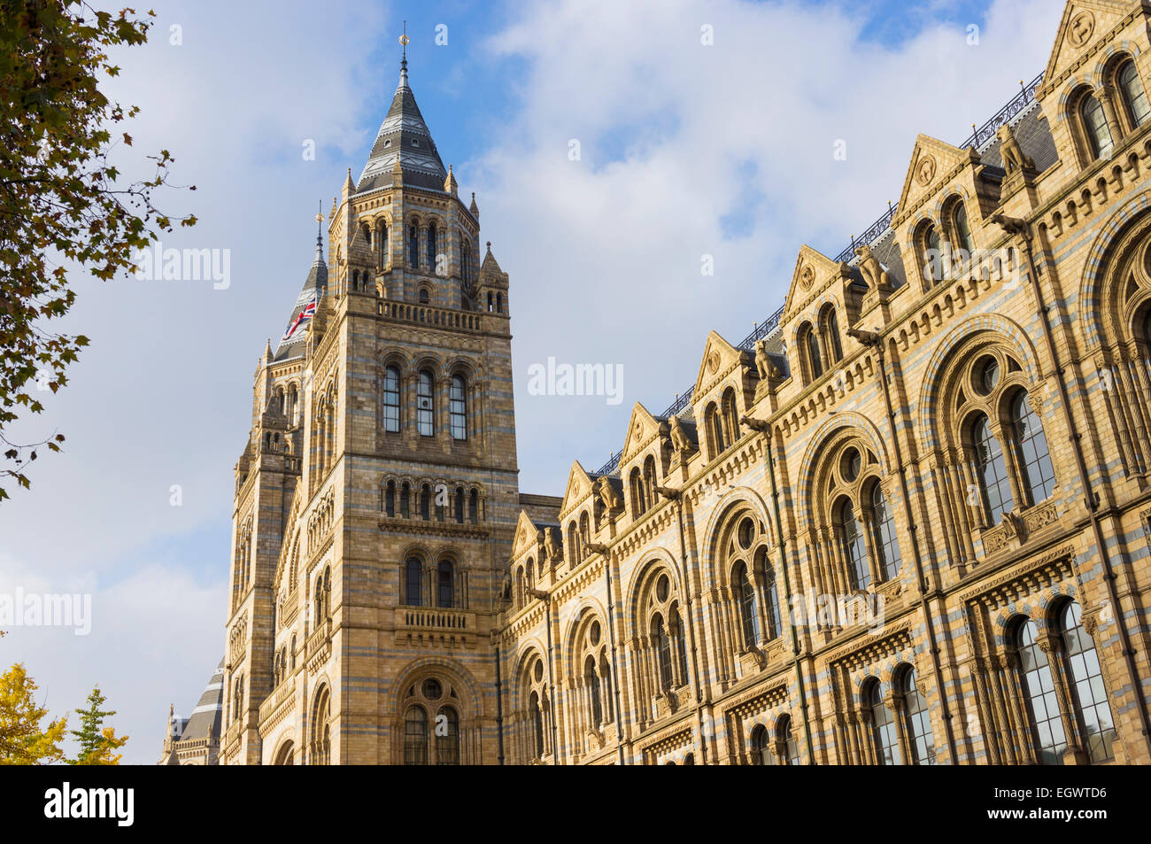 Natural History Museum, London, England, UK - building exterior - Stock Image