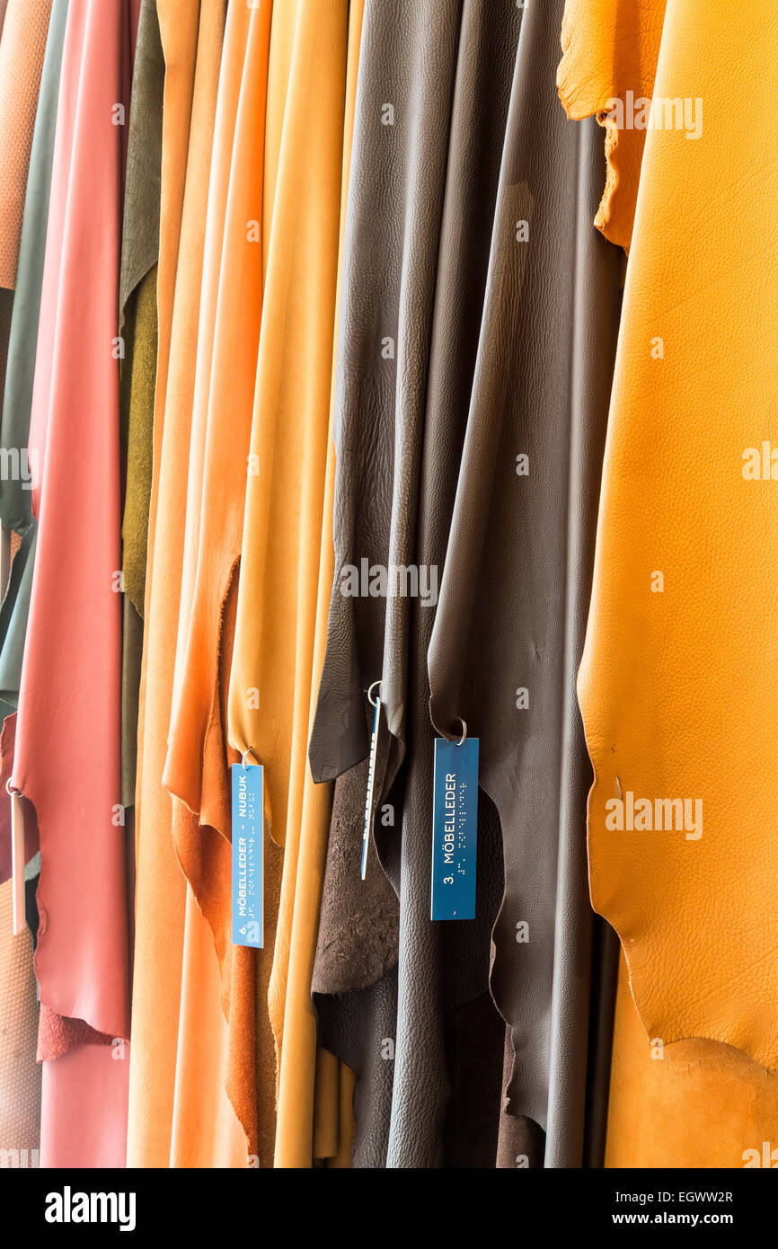 Leather and leather tanning museum, in Mülheim, Germany, shows the history of leather industry in this area - Stock Image