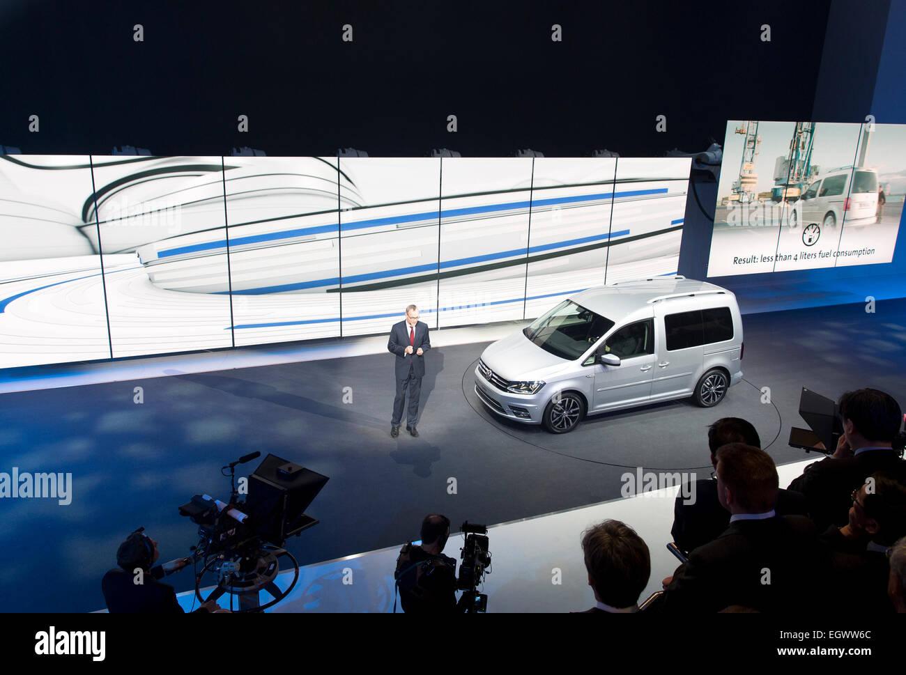 VW Group night, Volkswagen Caddy Stock Photo: 79244548 - Alamy