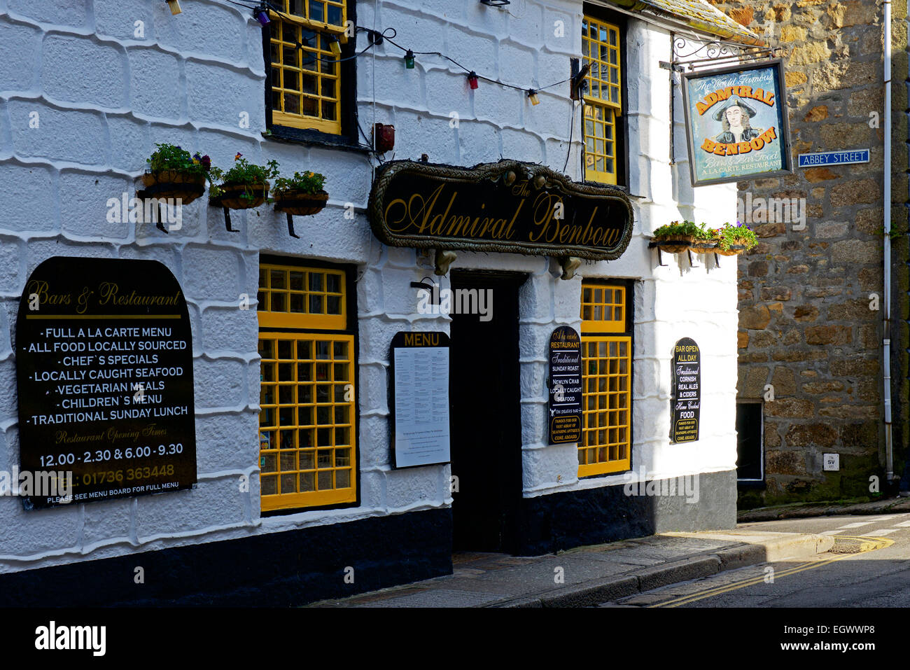 The Admiral Benbow pub in Penzance, Cornwall, England UK - Stock Image