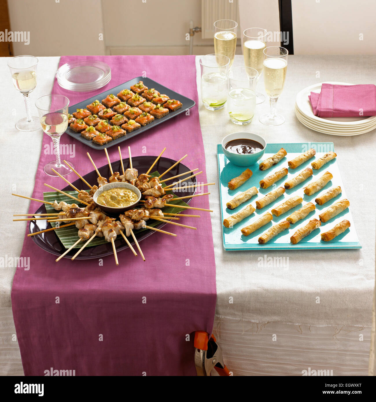 Finger Food, Canapes, Hors d'Oeuvre - Stock Image
