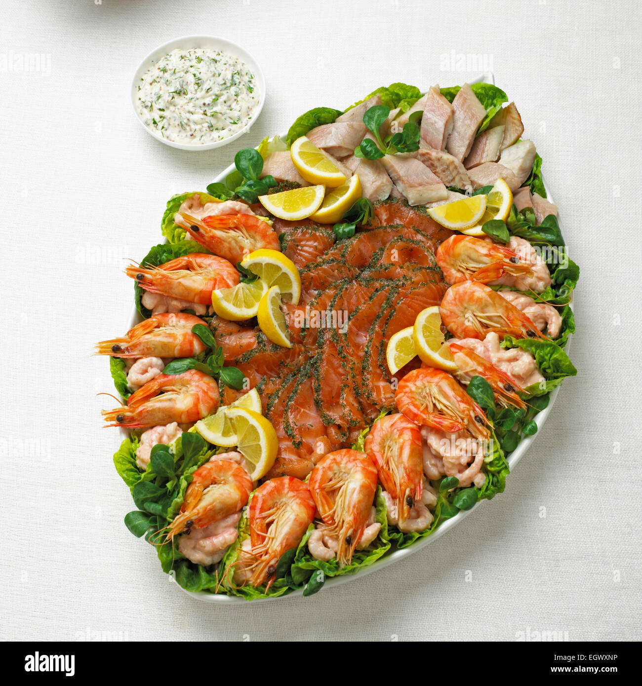 Smoked Fish Platter High Resolution Stock Photography And Images Alamy