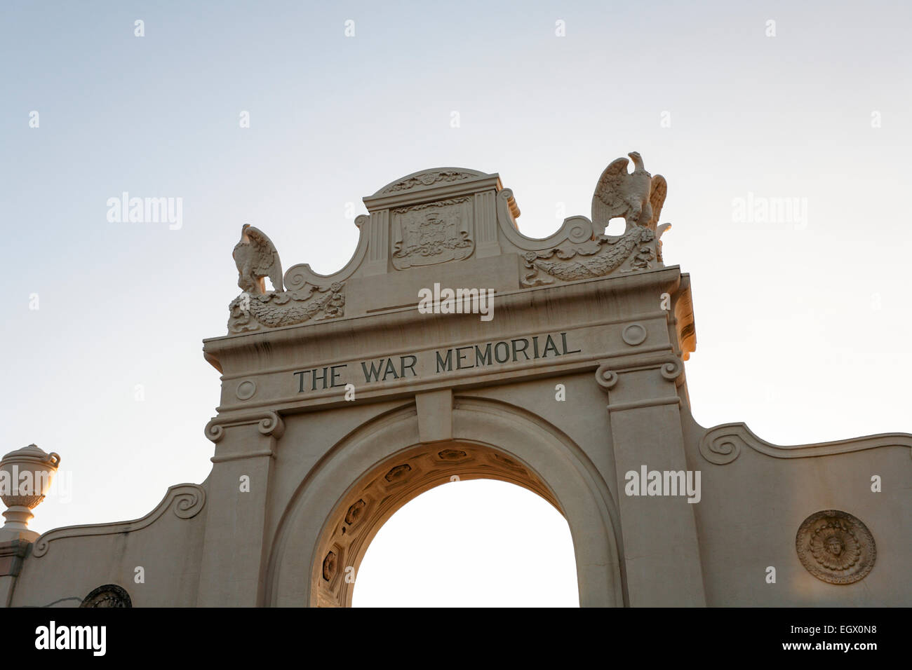 Honolulu, Hawaii, USA. 22nd Feb, 2015. The arch entrance to the Waikiki Natatorium War Memorial, Honolulu, Oahu, - Stock Image