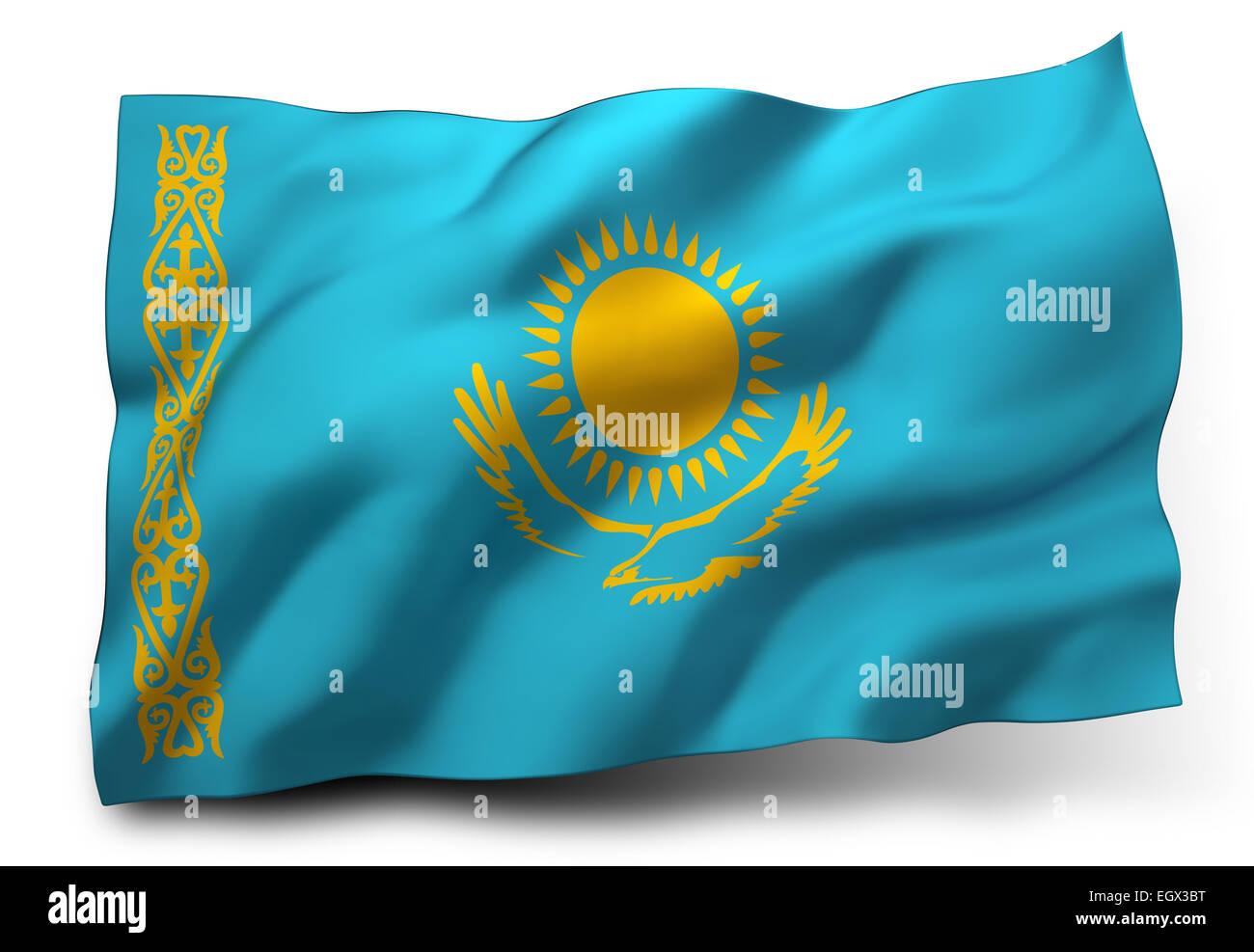Kazakhstani Flag Stock Photos & Kazakhstani Flag Stock ...