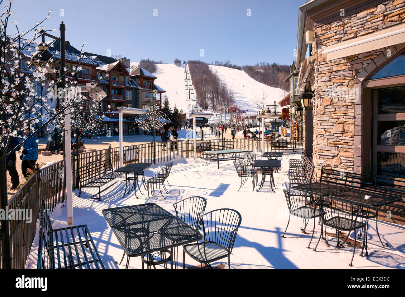 ontario's premier ski resort blue mountain in stock photo: 79249448