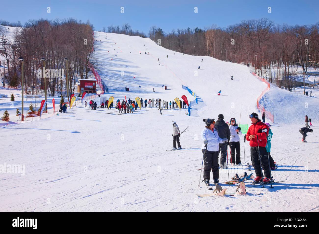 ontario's premier ski resort blue mountain in stock photo: 79250084