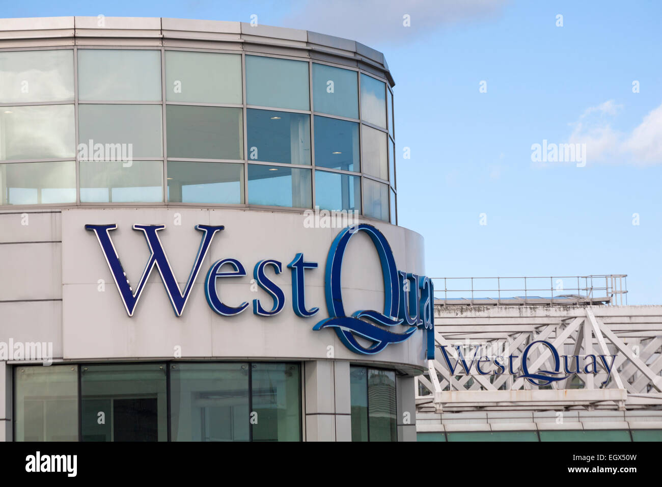 West Quay Shopping Centre, Southampton, Hampshire, UK Stock Photo