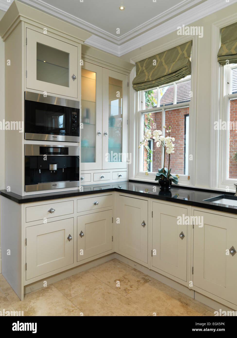 Corner Of Modern Kitchen With Neutral Units Uk Home Stock