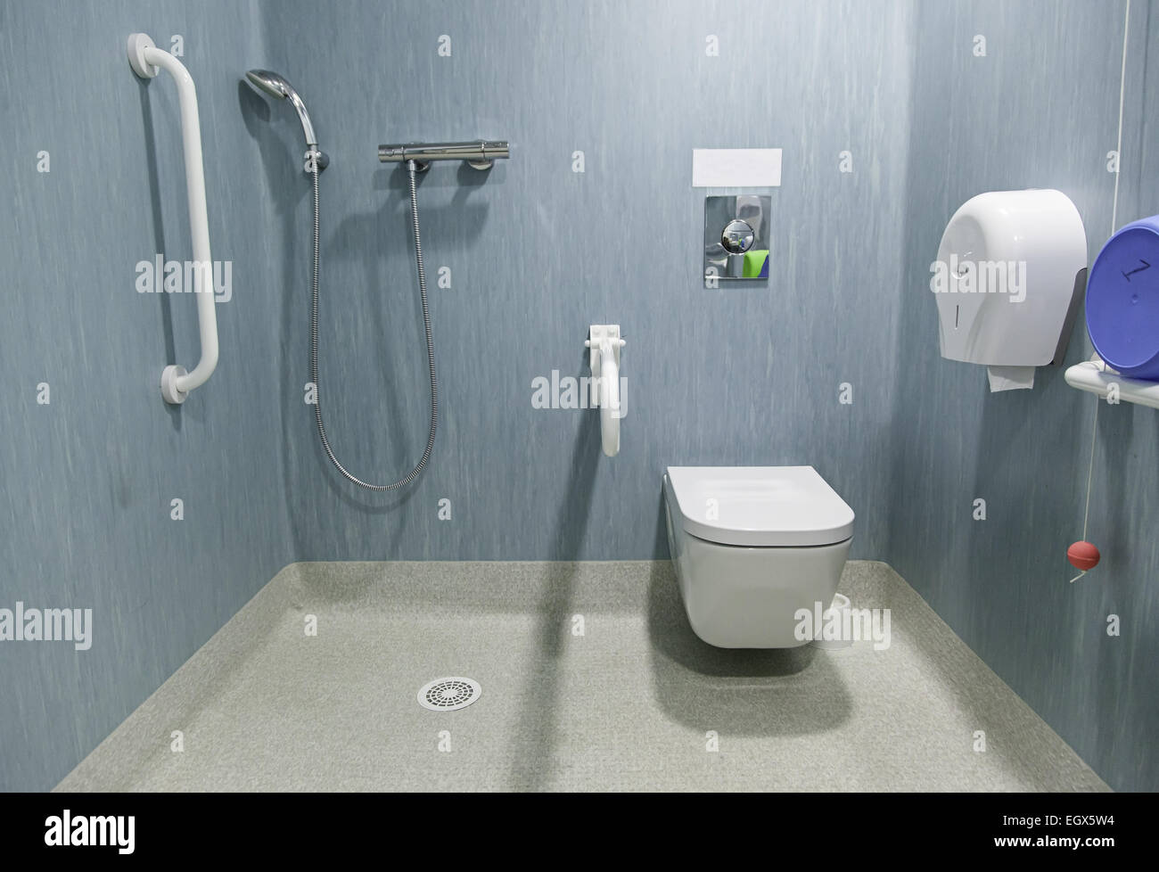 Disabled bathroom in a hospital Stock Photo: 79251344 - Alamy