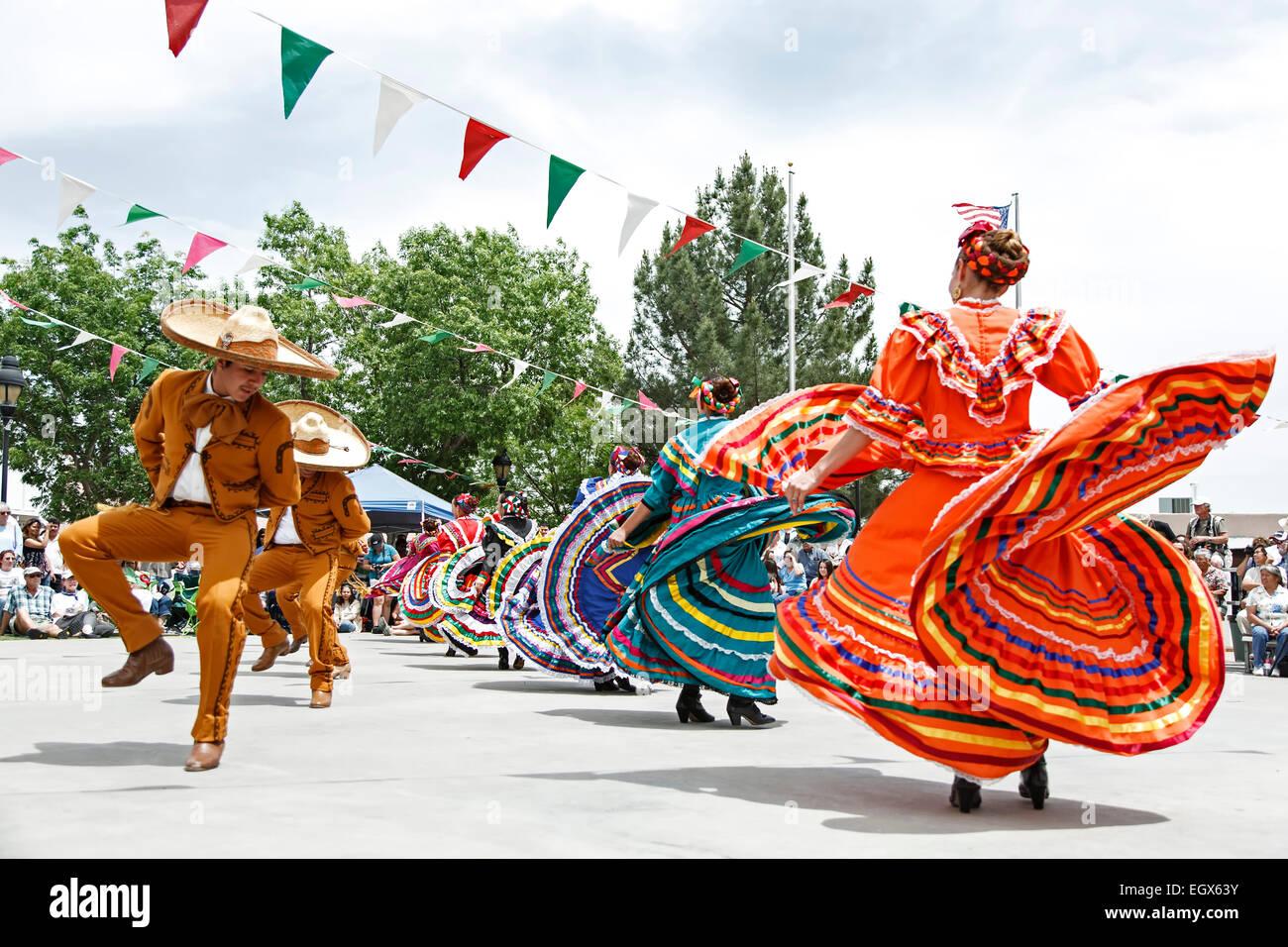 Mexican Dancers Cinco De Mayo Celebration Old Mesilla Las Cruces