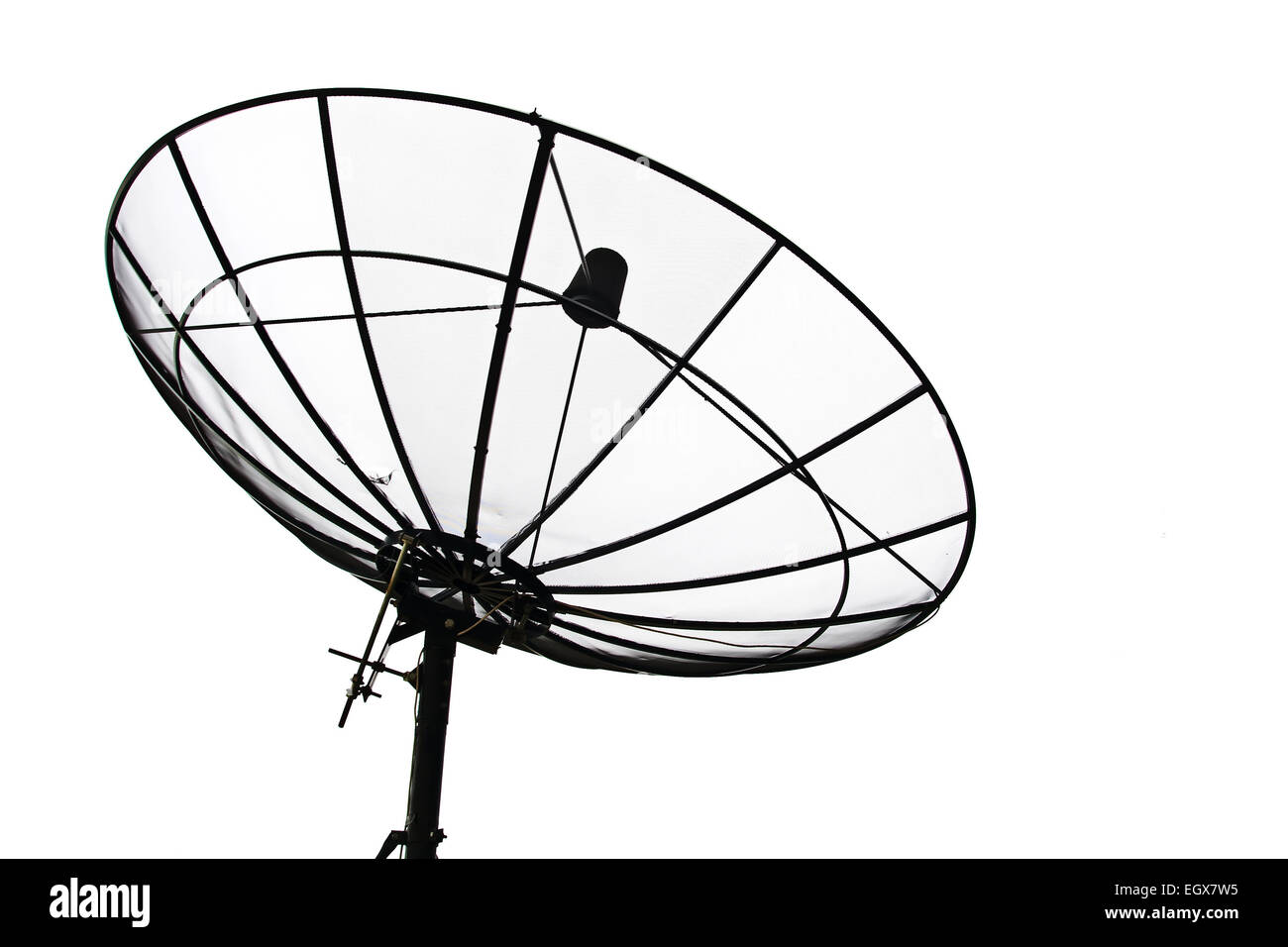 Satellite Dish isolated on White sky - Stock Image