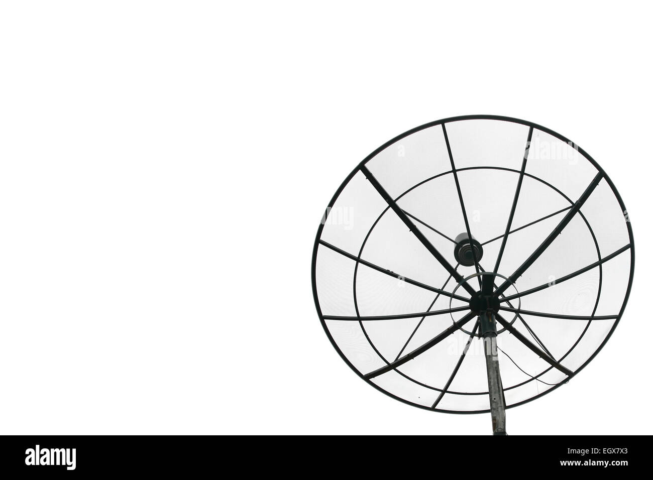Big Black satellite isoleted on Cloudless Sky - Stock Image