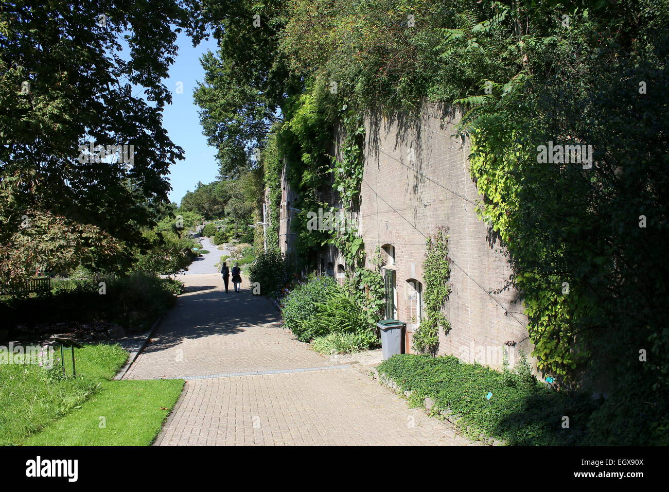19th century Fort Hoofddijk, nowadays the botanical gardens of the Utrecht University  at The Uithof location, The - Stock Image