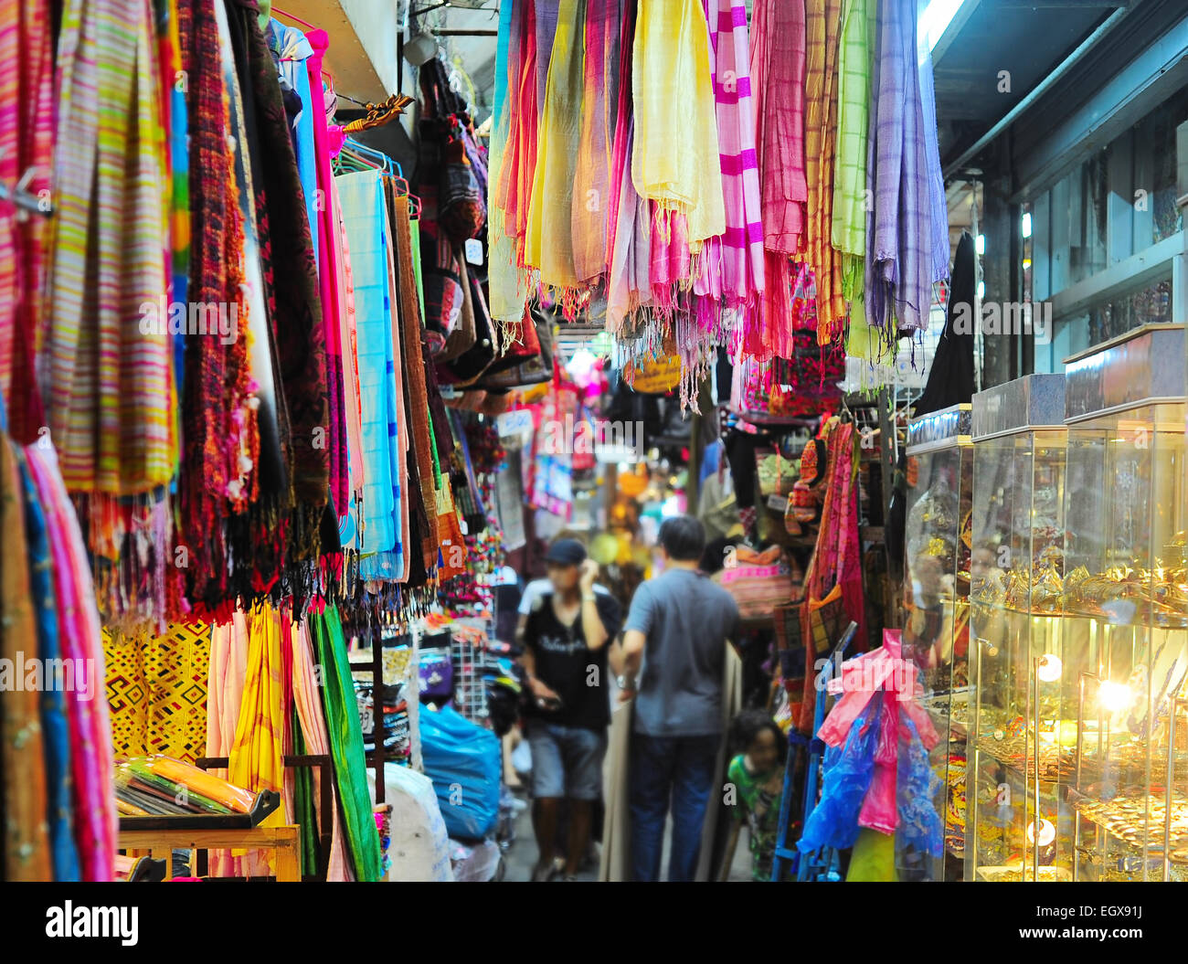 Chatuchak weekend market in Bangkok, Thailand. It is the largest market in Thailand. - Stock Image