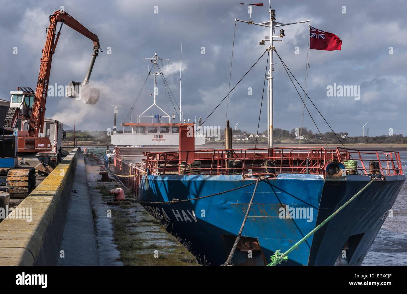 The NORDICA HAV unloading at Glasson Dock Stock Photo