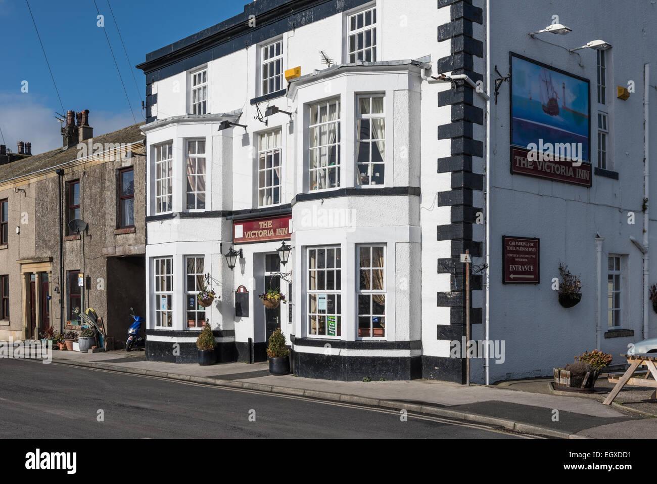 The Victoria Inn at Glasson Dock Loancashire - Stock Image