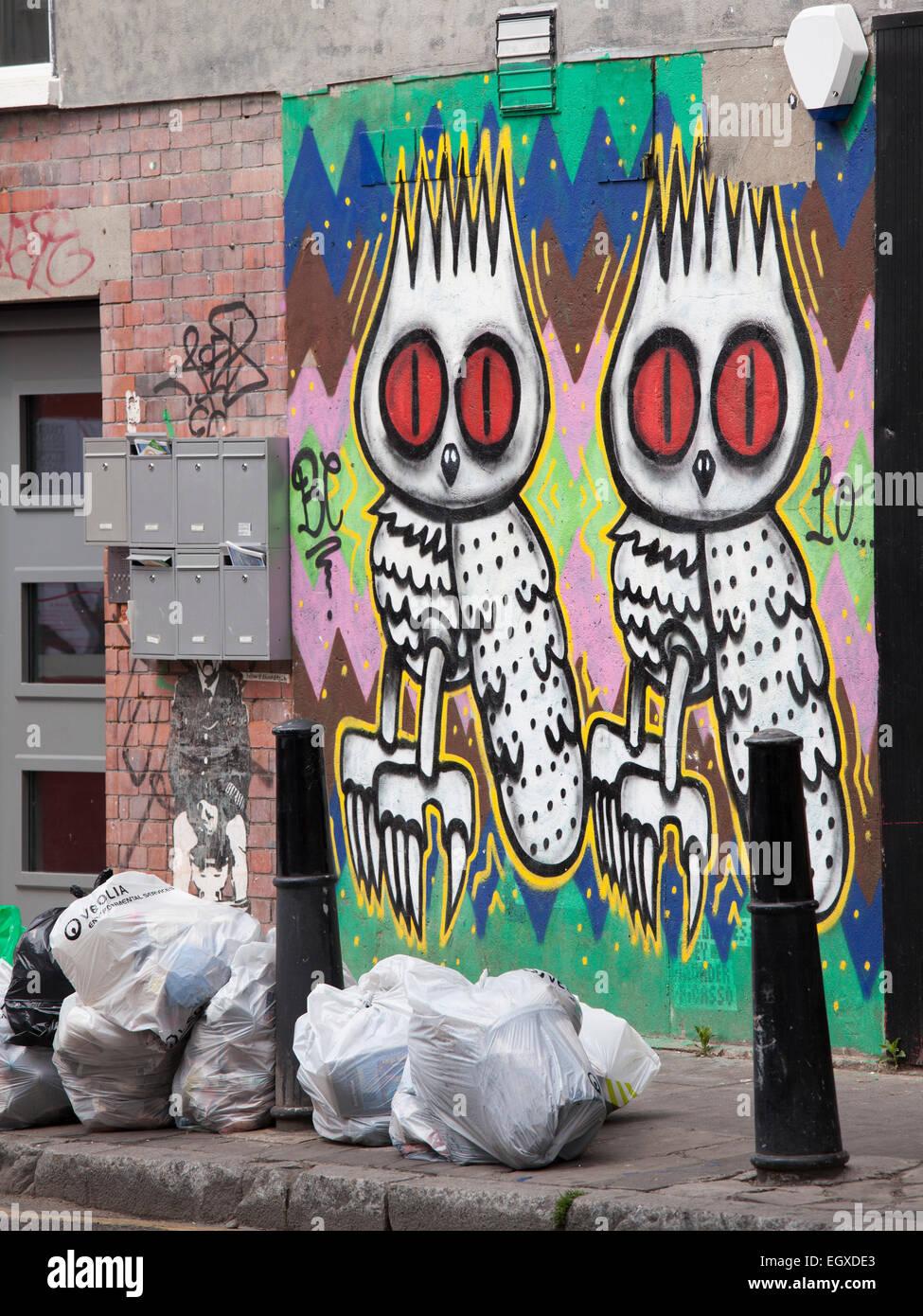 Grafitti near City of London - Stock Image