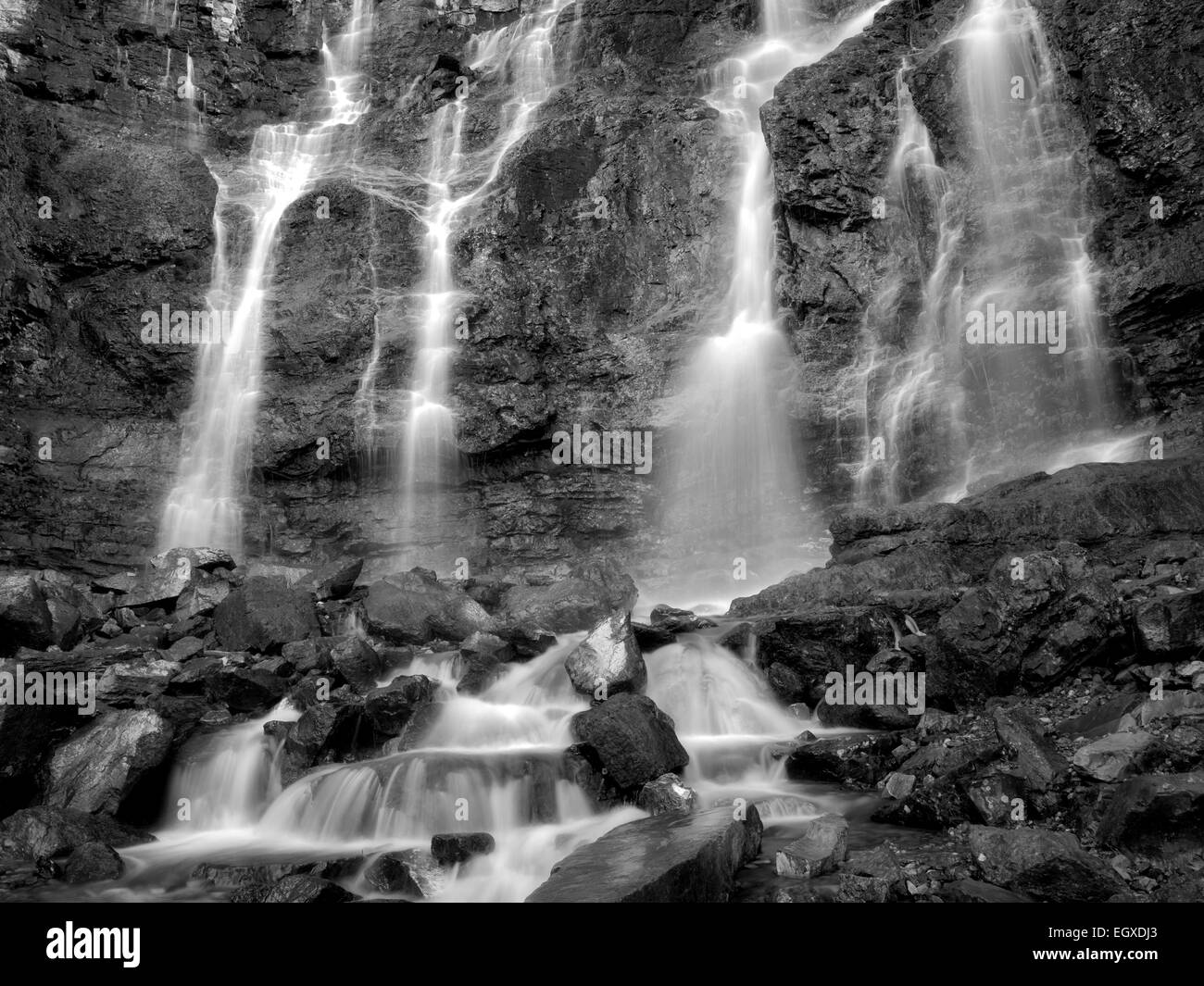 Tangle Falls. Jasper National Park, Alberta, Canada - Stock Image