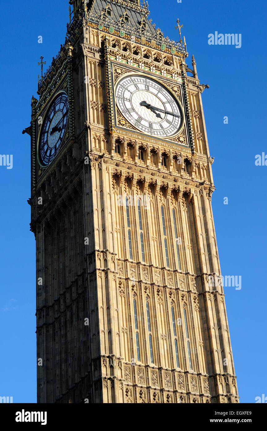 Big Ben Houses Of Parliament London . Stock Photo