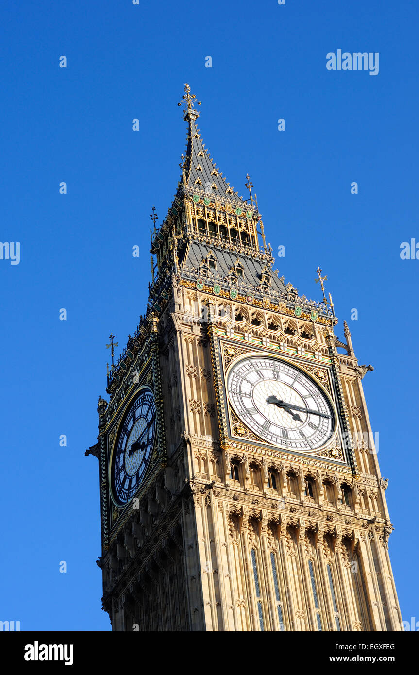 Big Ben Houses Of Parliament London . Stock Photo