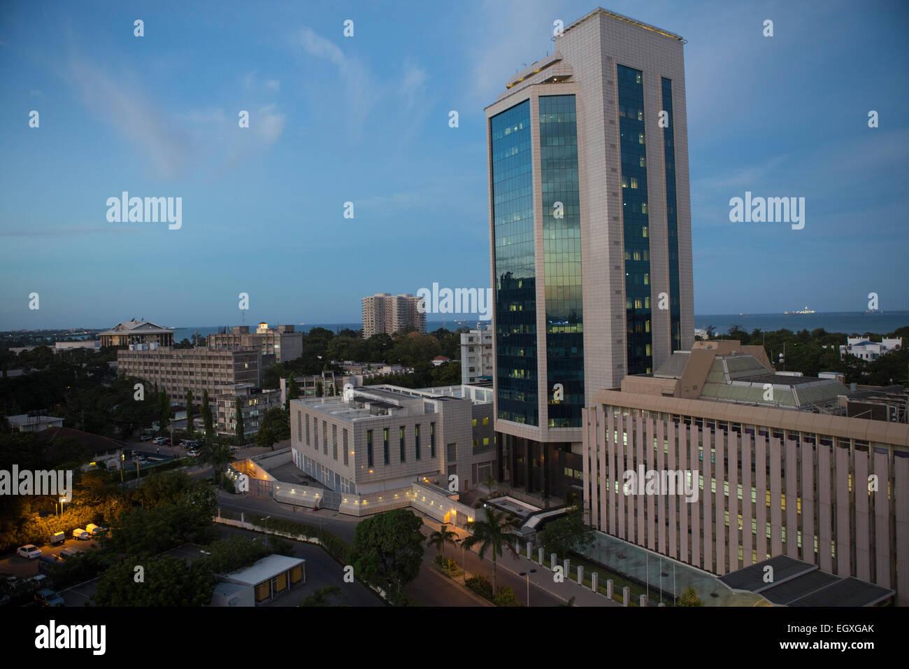 Bank of Tanzania building - Dar es Salaam, Tanzania, East Africa. - Stock Image