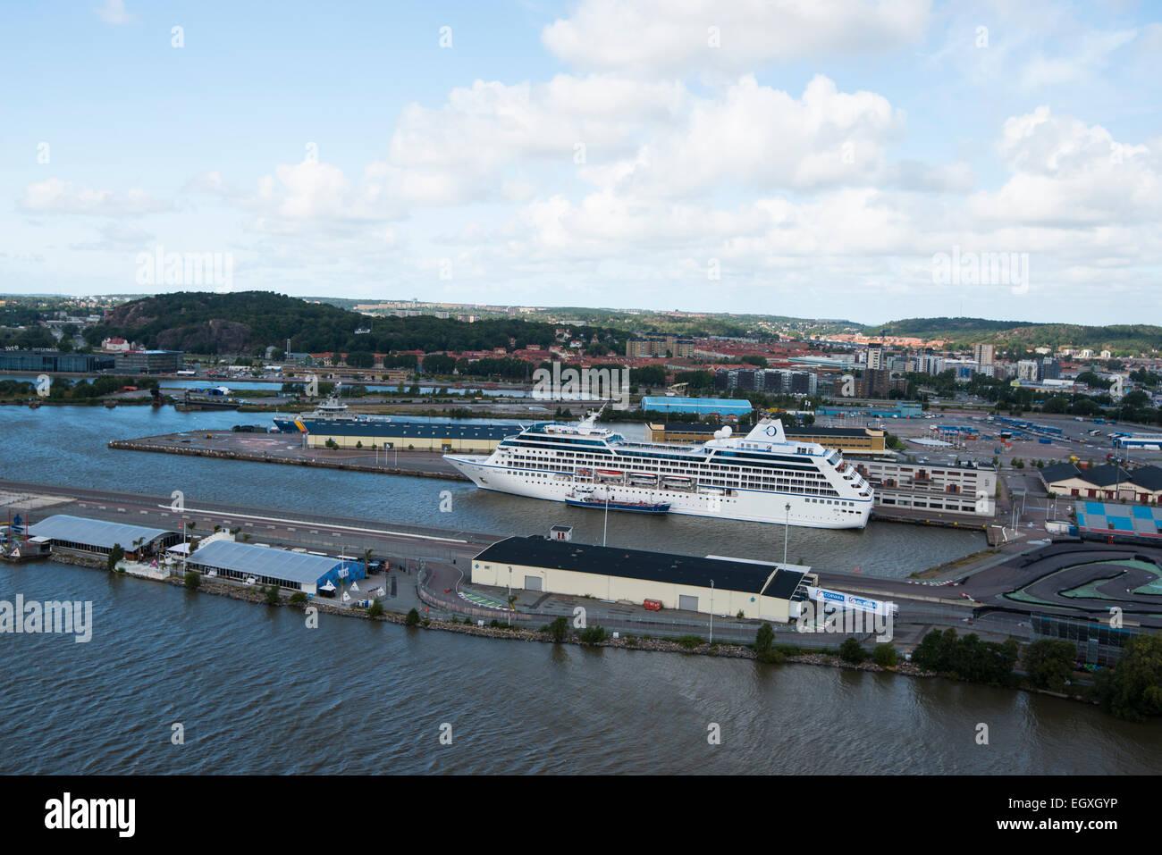 View over Gothenburg from Lipstick, Scandinavia, Sweden - Stock Image