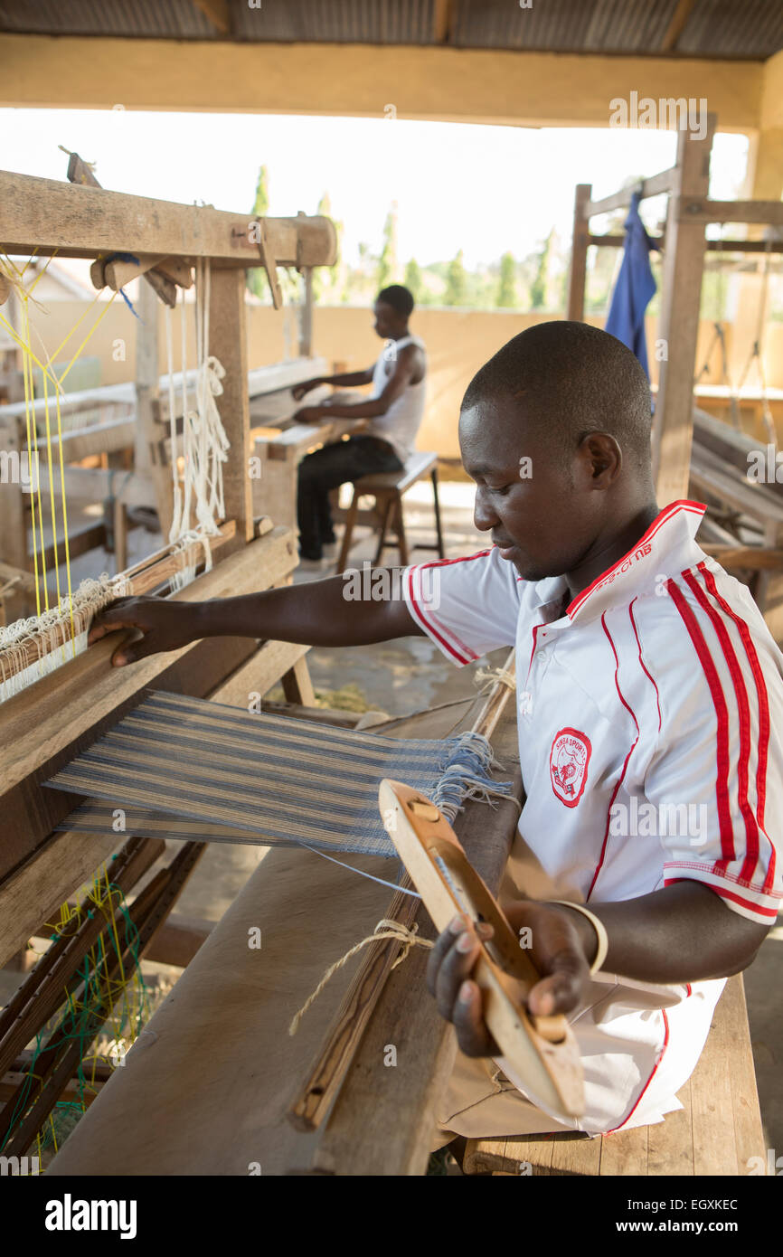 Weaving workshop - Dar es Salaam, Tanzania, East Africa - Stock Image