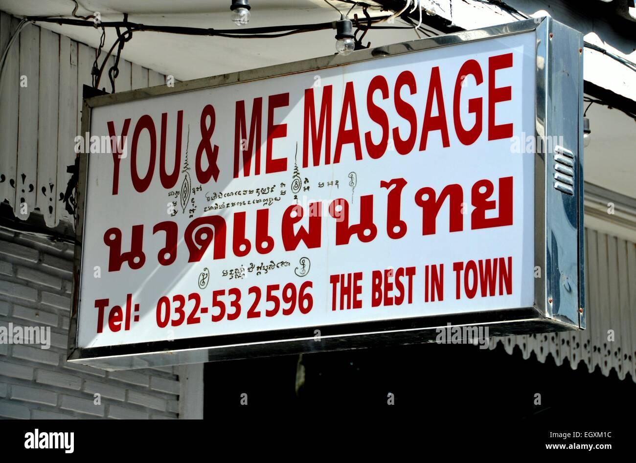 Hua Hin, Tailandia Firma en la sala de masajes You Me-6374
